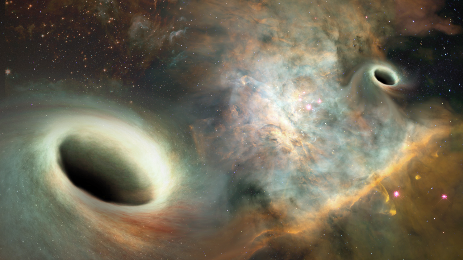 Big News! Supermassive orbiting black holes detected